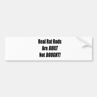 La rata real Rod se construye no comprada Pegatina Para Auto