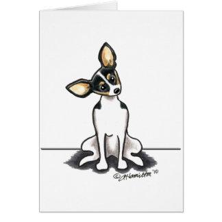 La rata Terrier tricolora sienta bonito Tarjeta De Felicitación