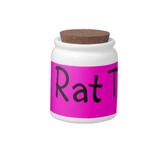 la rata trata el tarro jarras para caramelos