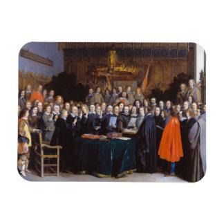La ratificación del tratado de Münster 1648 Imanes Rectangulares