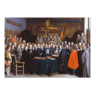 """La ratificación del tratado de Münster 1648 Invitación 3.5"""" X 5"""""""