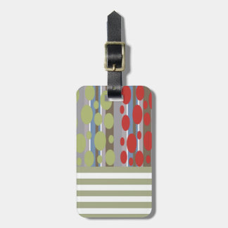 La raya abstracta elegante retra del vintage/añade etiquetas para equipaje