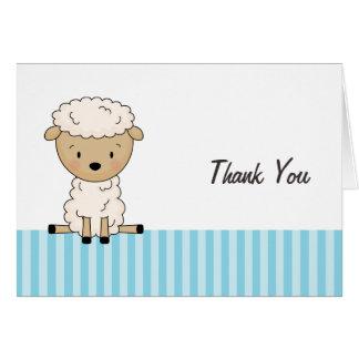 La raya azul de la fiesta de bienvenida al bebé de tarjeta pequeña