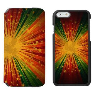 La raya colorida retra protagoniza la explosión funda billetera para iPhone 6 watson
