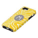 La raya de la cebra cualquier color personaliza iP iPhone 5 Cárcasas