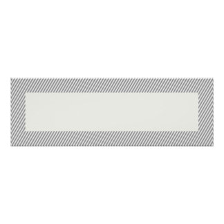 """La raya gris adaptable confinó 36"""""""" la bandera X12 Póster"""
