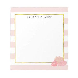 La raya rosada y se ruboriza libreta personalizada libreta para notas
