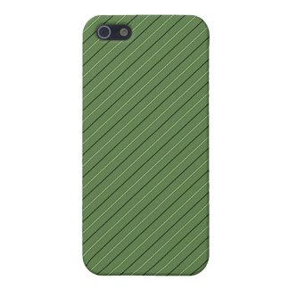 La raya y el oro verdes confinan la mirada metálic iPhone 5 protector