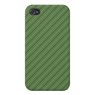 La raya y el oro verdes confinan la mirada metálic iPhone 4 cobertura