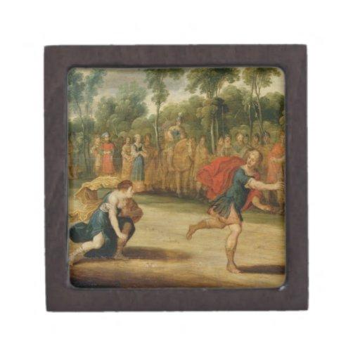 La raza de Atalanta y de Hippomenes (aceite en el  Caja De Regalo De Calidad