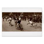 La raza de bicicleta 1905 limpia hacia fuera tarjetón