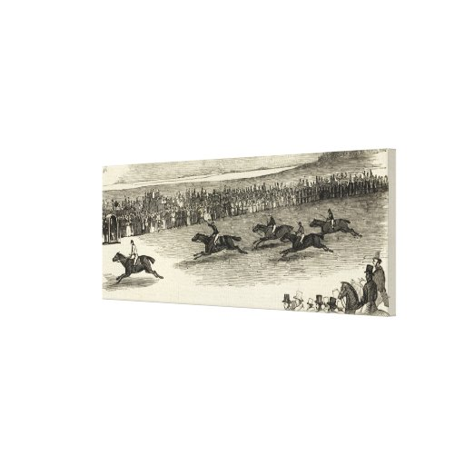 La raza de Guinea, Newmarket Impresión De Lienzo