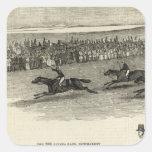 La raza de Guinea, Newmarket Pegatina Cuadrada