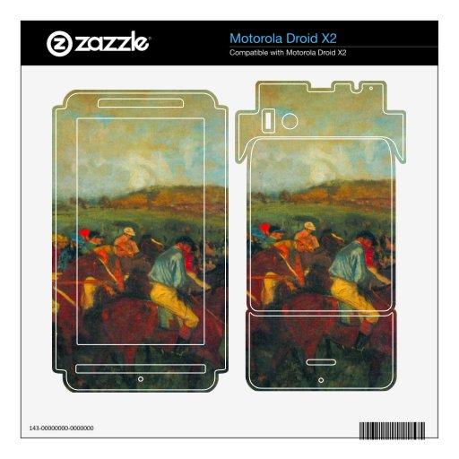 La raza de los caballeros de Edgar Degas Motorola Droid X2 Calcomanía