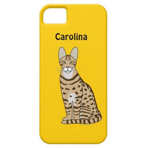 La raza del gato de Serengeti personalizó la caja iPhone 5 Case-Mate Cárcasas