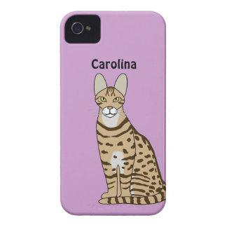La raza del gato de Serengeti personalizó la caja iPhone 4 Coberturas