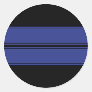 La raza dual azul negra raya al pegatina