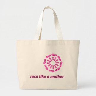La raza tiene gusto de un tote del jumbo de la mad bolsa tela grande