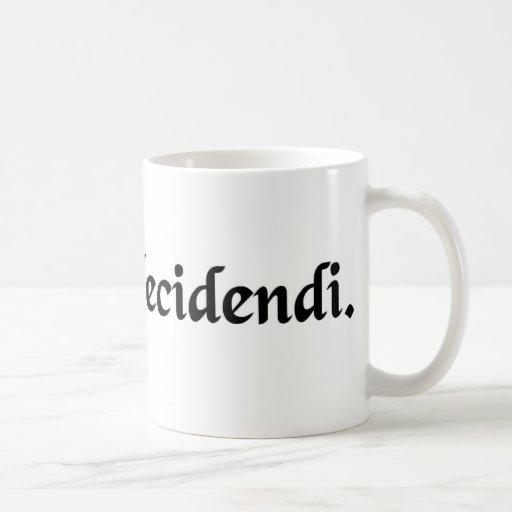 La razón de la decisión taza de café