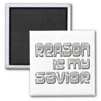 La razón es mi salvador imanes para frigoríficos