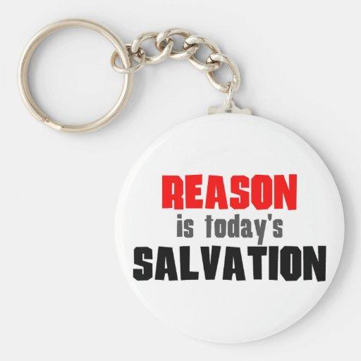 La razón es salvación de hoy llaveros