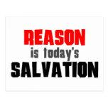 La razón es salvación de hoy postal