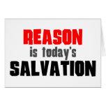 La razón es salvación de hoy tarjetas