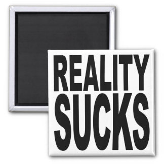 La realidad chupa imán para frigorifico
