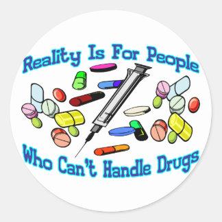 La realidad está para la gente pegatina redonda