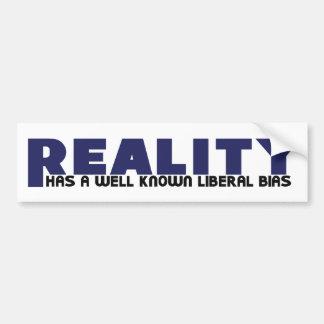 La realidad tiene un prejuicio liberal bien conoci etiqueta de parachoque
