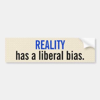 La realidad tiene un prejuicio liberal etiqueta de parachoque