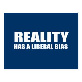 La realidad tiene un prejuicio liberal tarjeta postal