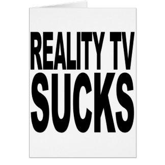 La realidad TV chupa Tarjetón