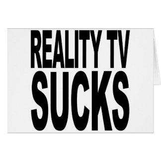 La realidad TV chupa Felicitaciones