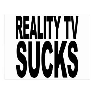 La realidad TV chupa Tarjetas Postales