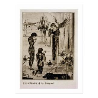 La realización del Sangreal, del 'd'Ar de Le Morte Tarjeta Postal