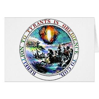 La rebelión a los tiranos es obediencia a dios tarjeta pequeña