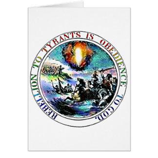La rebelión a los tiranos es obediencia a dios tarjeta de felicitación
