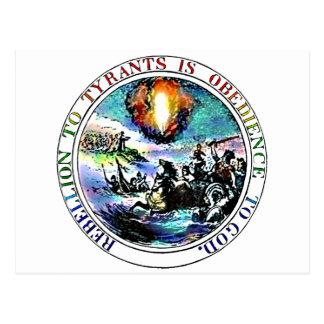 La rebelión a los tiranos es obediencia a dios tarjetas postales