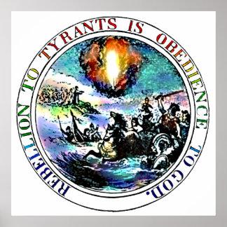 La rebelión a los tiranos es obediencia a los póster