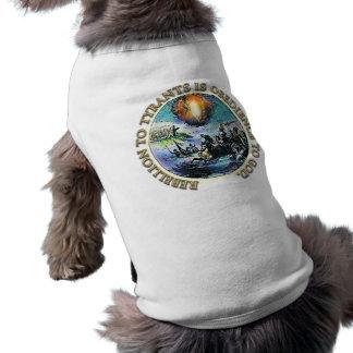 La rebelión a los tiranos es obediencia al perro d playera sin mangas para perro