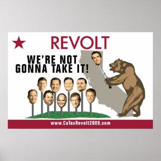 La rebelión de impuesto de CA 2009-We no va a toma Impresiones