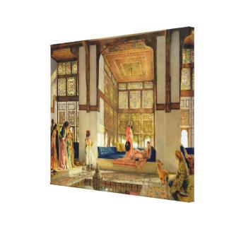 La recepción 1873 aceite en el panel impresion de lienzo