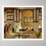 La recepción, 1873 (aceite en el panel) póster
