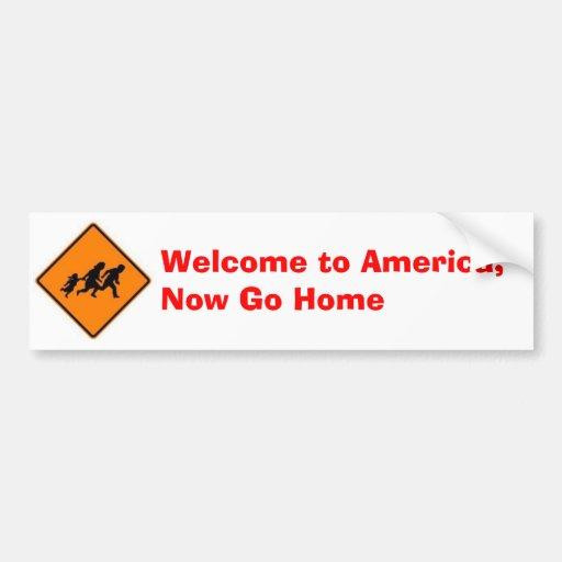 La recepción a América, ahora va a casa Etiqueta De Parachoque
