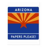 ¡La recepción a Arizona, papeles satisface! Postal
