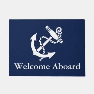 La recepción a bordo personaliza felpudo