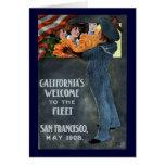 La recepción de California a la flota Felicitación