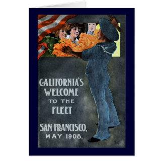 La recepción de California a la flota Tarjeta De Felicitación