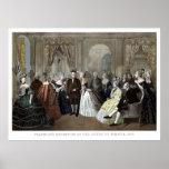 La recepción de Franklin en la corte de Francia Posters